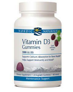 Vitamin D3 Gummy 60 by Nordic Naturals