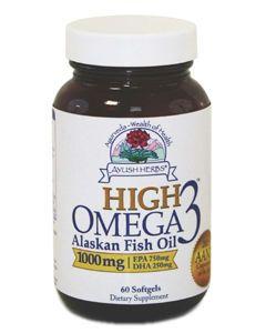 High Omega 3 1000mg 60 gels Ayush Herbs