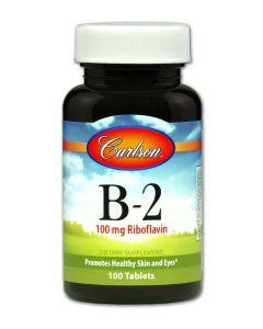 Vitamin B-2 100 tabs Carlson Labs