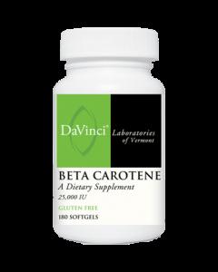 Beta Carotene 25000 IU 180 caps Davinci Labs