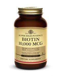 Biotin 10,000mcg 60 Vegetable Capsules by Solgar