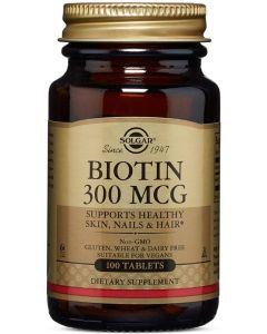 Biotin 300 mcg 100 Tablets Solgar