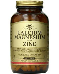 Calcium Magnesium Plus Zinc 250 tabs by Solgar