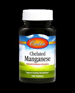 Chelated Manganese 20 mg 100 tabs Carlson Labs