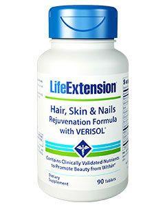 Hair, Skin & Nails Rejuvenation Formula 90 tabs by Life Extension