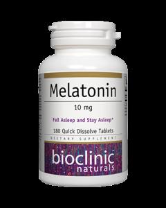 Melatonin 10mg 180 tabs by Bioclinic Naturals