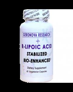 R Lipoic Acid 300mg 60 vcaps GeroNova Research