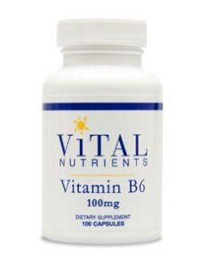 Vitamin B6 100 mg 100 caps by Vital Nutrients