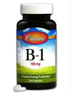 Vitamin B-1 100mg 250 tabs Carlson Labs