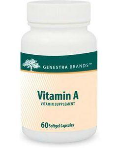 Vitamin A 10,000 IU 60 gels Genestra / Seroyal