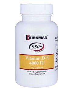 Vitamin D-3 4000 IU 120 caps Kirkman Labs