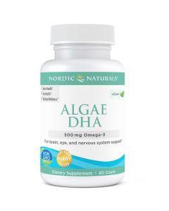Algae DHA 500 mg 60 sgels Nordic Naturals
