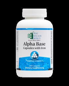 Alpha Base caps with Iron 240 caps Ortho Molecular