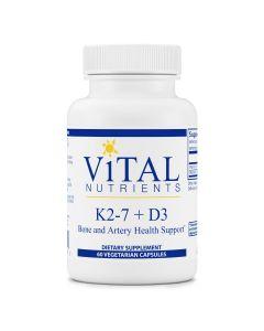 K2-7 + D3 60 vcaps Vital Nutrients