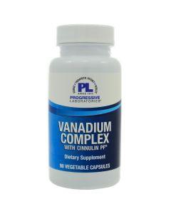 Vanadium Complex with Cinnulin PF 90 vcaps Progressive Labs