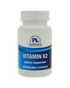 Vitamin K2 30 vcaps Progressive Labs
